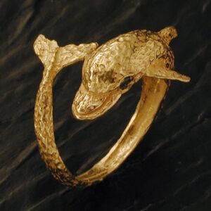 Anello delfino in oro [Cod. AN 070-OG]