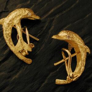 Orecchini delfini in oro [Cod. OR 081-OB]